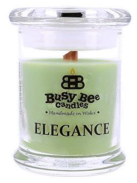 Busy Bee Candles Elegance praskajúca sviečka Cool Citrus Basil