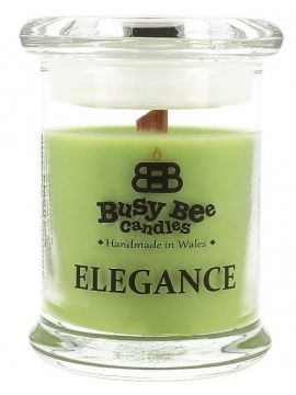 Busy Bee Candles Elegance praskající svíčka Lime Mojito