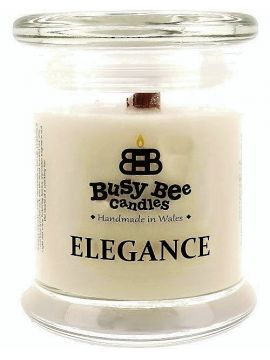 Busy Bee Candles Elegance praskající svíčka White Christmas