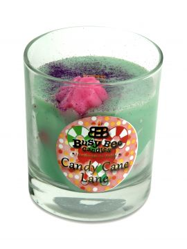 Busy Bee Candles Candy Cane Lane Christmas Crackling Wick