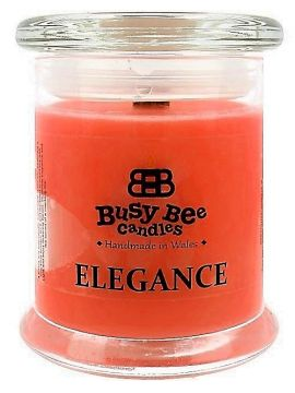 Busy Bee Candles Elegance praskající svíčka Mango & Papaya Smoothie