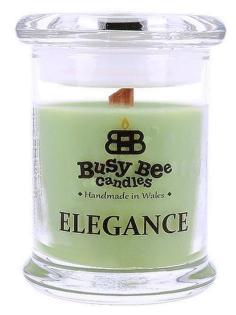 Busy Bee Candles Elegance praskající svíčka Green Tea And  Lemongrass