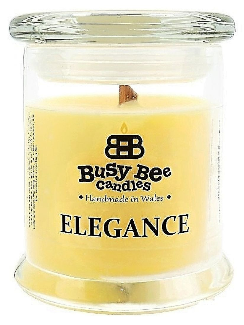 Busy Bee Candles Elegance praskajúca sviečka Summer Breeze