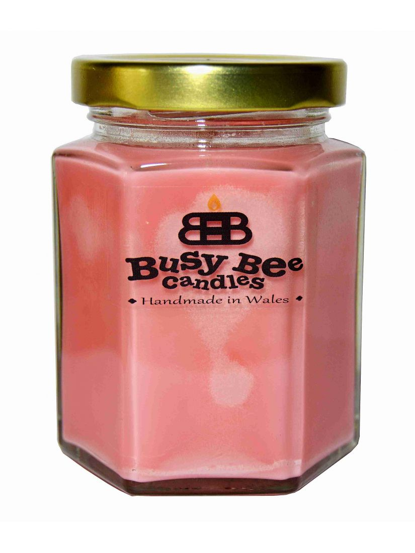 Busy Bee Candles Classic sviečka vel.MEDIUM Rebarbora & Vanilka